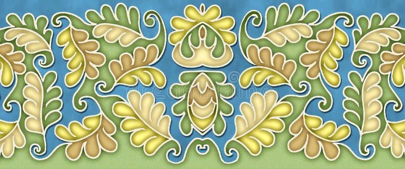 Elegant leaf pattern motif royalty free stock images