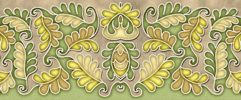 Elegant leaf pattern motif stock photo