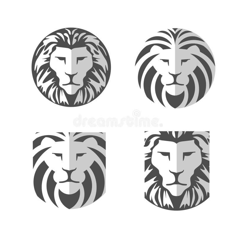 Elegant lejonlogovektor stock illustrationer