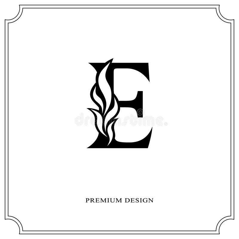 Download Elegant Letter E Graceful Royal Style Calligraphic Beautiful Logo Vintage Drawn Emblem