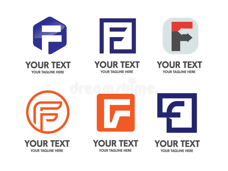 Elegant Letter F logo royalty free illustration