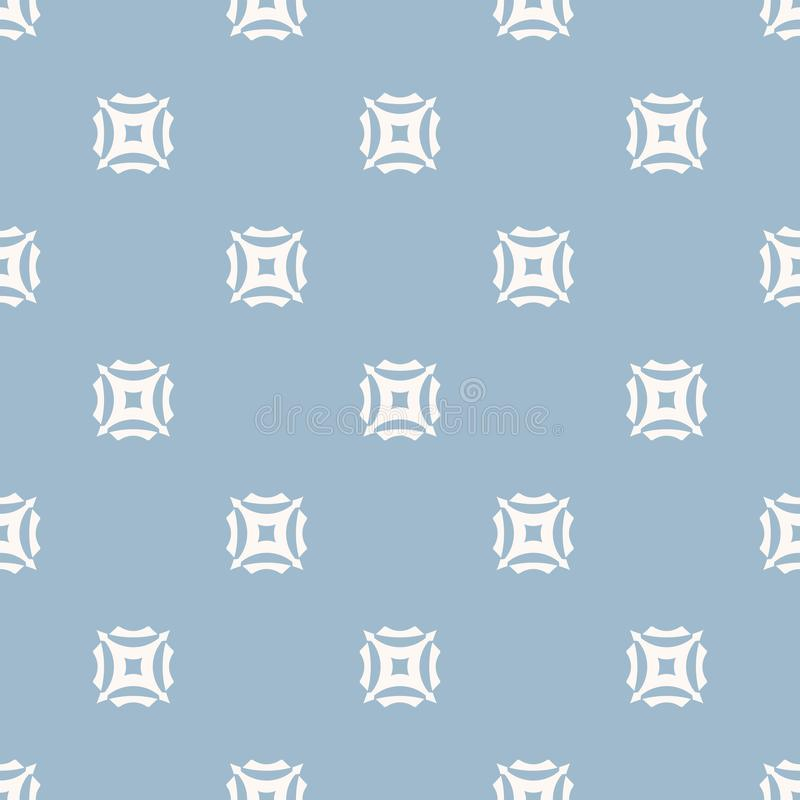 Elegant light blue minimalist geometric seamless pattern with carved squares. vector illustration