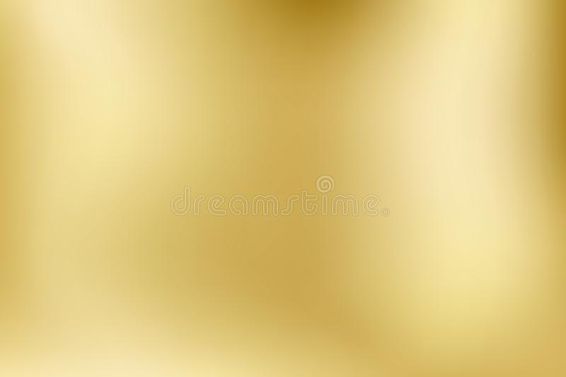 Elegant light and shine.Vector gold blurred gradient style background. Texture abstract metal holographic backdrop. Abstract smoot. H colorful illustration royalty free illustration