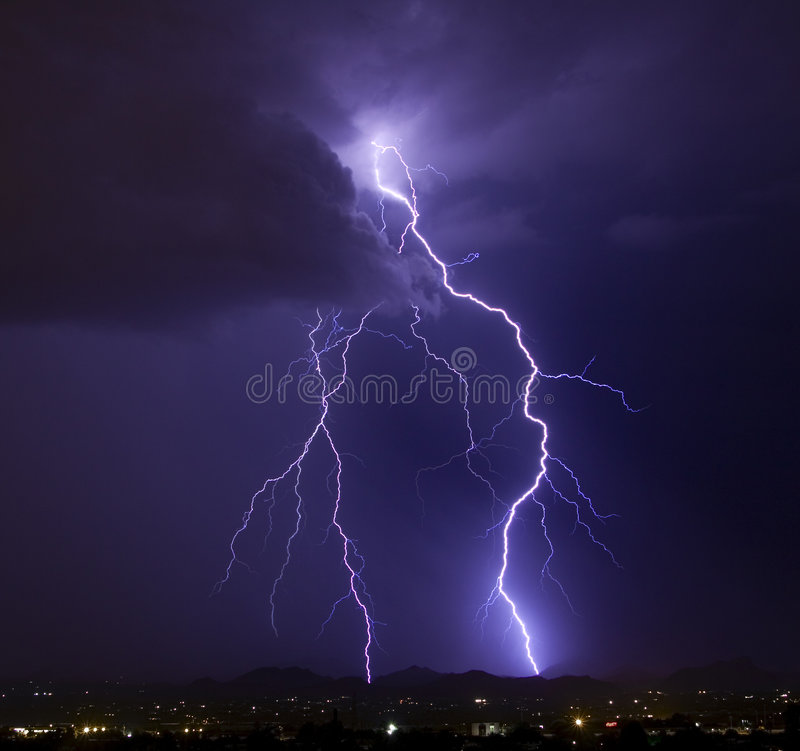Elegant Lightning royalty free stock photos