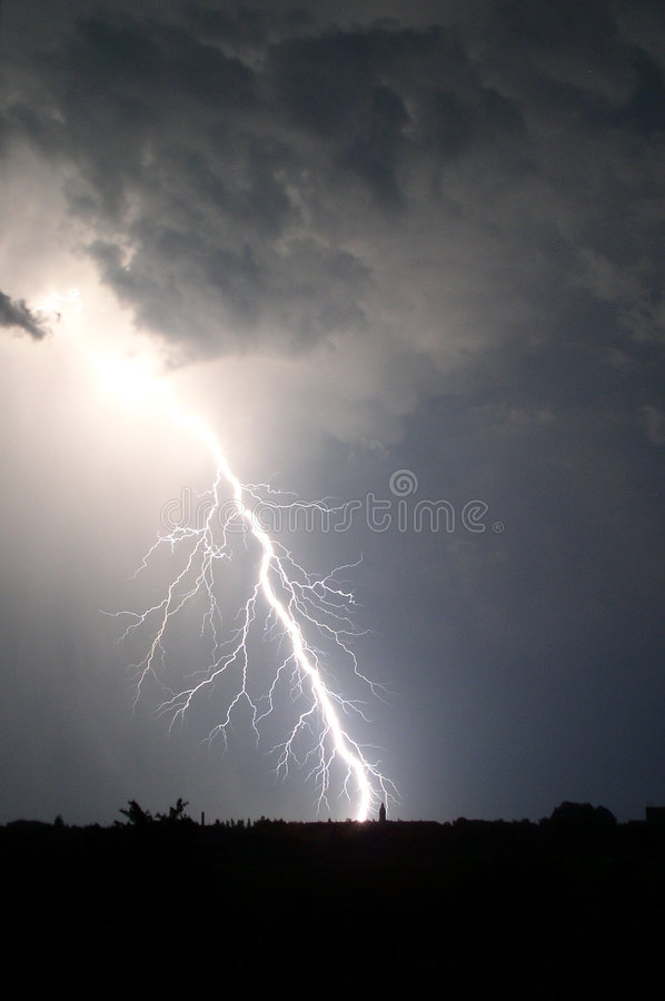 Download Elegant lightning bolt stock image. Image of natural, light - 2811129