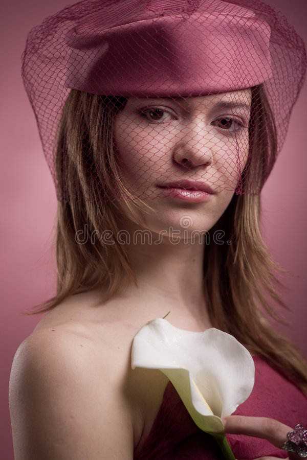 elegant liljamodell för calla royaltyfri foto