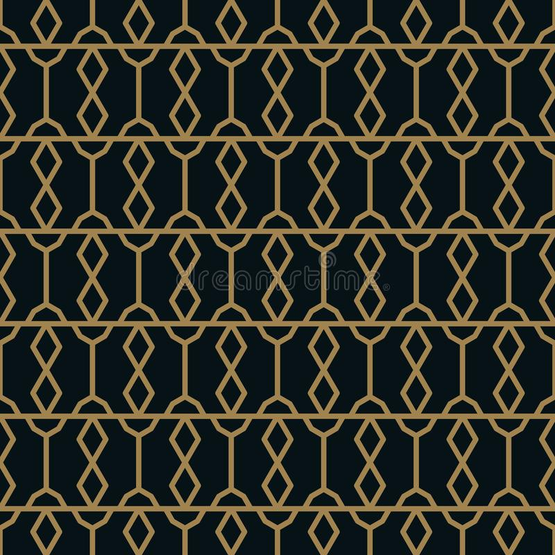 Elegant line ornament pattern seamless pattern for background, wallpaper, textile printing, packaging, wrapper, etc royalty free illustration