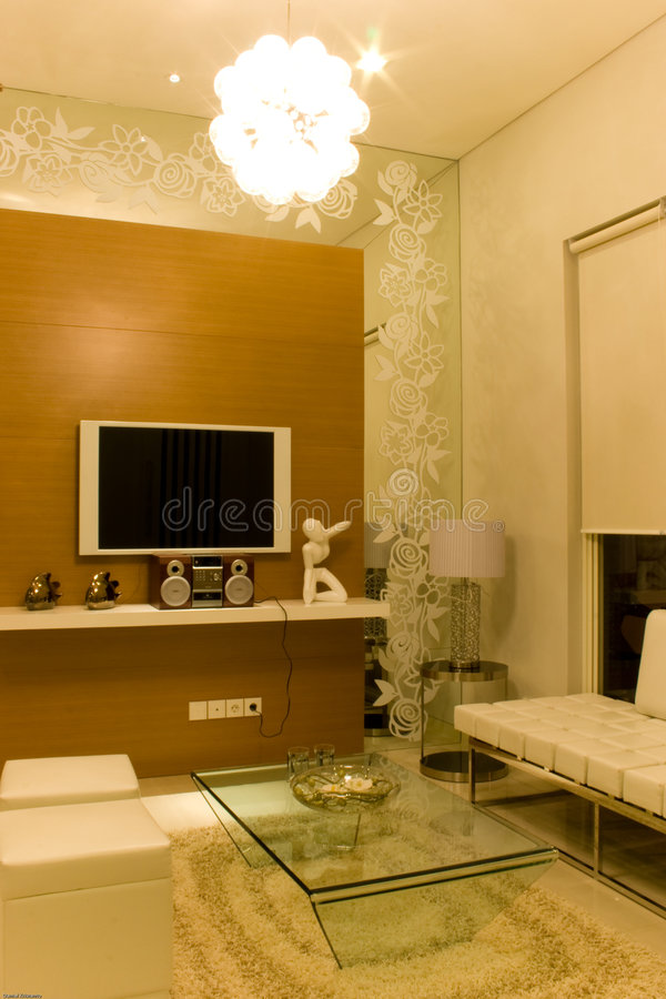 Elegant Living Room Stock Image. Image Of Light, Ornament