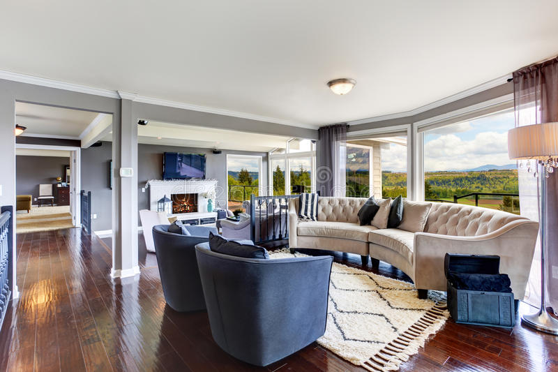 Elegant Living Room Interior In Luxury House Stock Image
