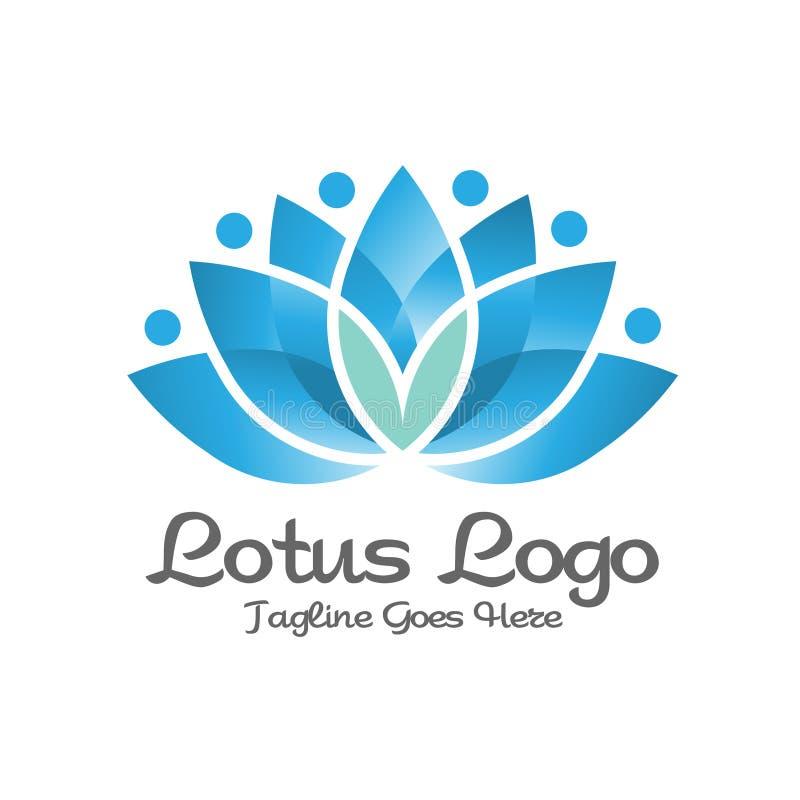 Elegant logo för Lotus blomma royaltyfri illustrationer