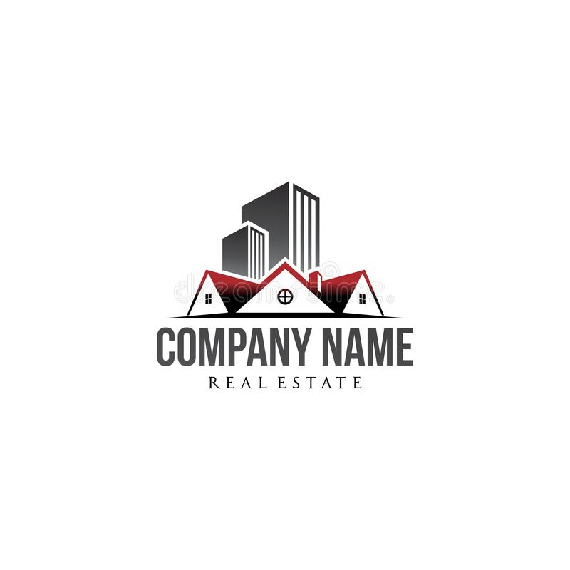 Residential and property company logo business royalty free stock image
