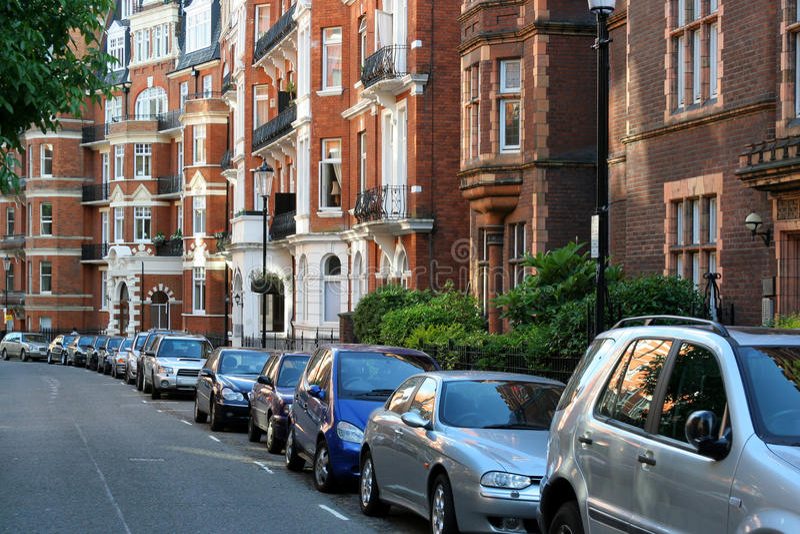 Elegant London Townhouses stock image