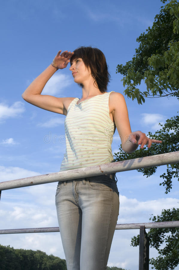 Elegant Look In The Distance Royalty Free Stock Photo