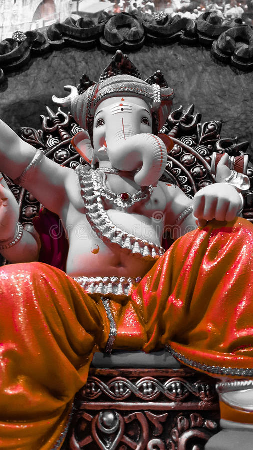 Elegant Lord Ganesha stock photo