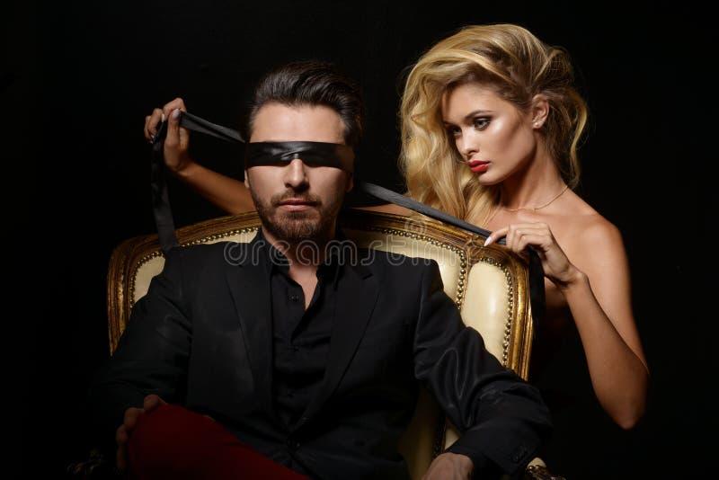 Elegant lovely couple stock photo. Image of glamour