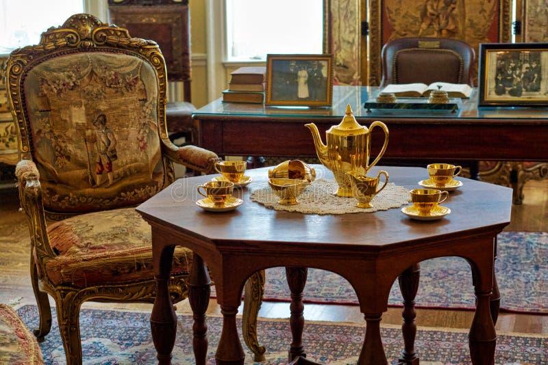 Elegant luxurious old style interior royalty free stock photos