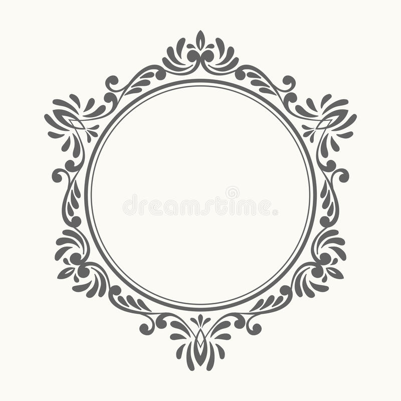 Elegant luxury retro floral frame. stock illustration