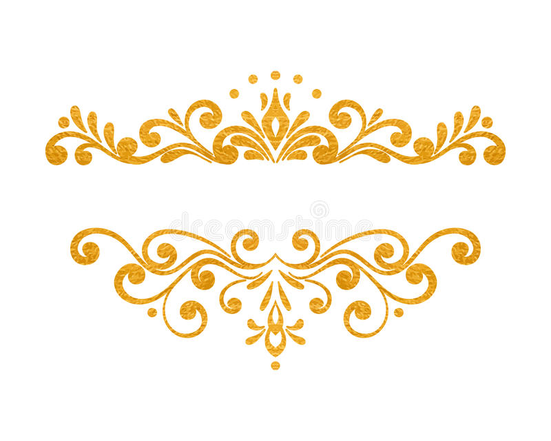 Elegant Luxury Vintage Gold Floral Border Stock Vector ...
