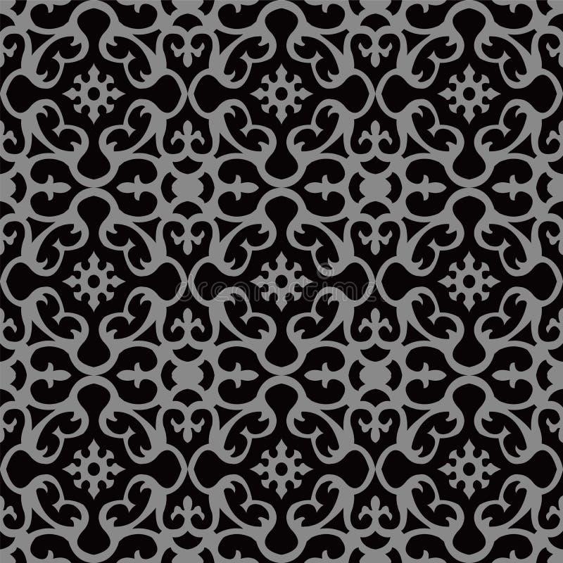 Elegant mörk antik bakgrundsbild av den spiral kalejdoskopblomman royaltyfri illustrationer
