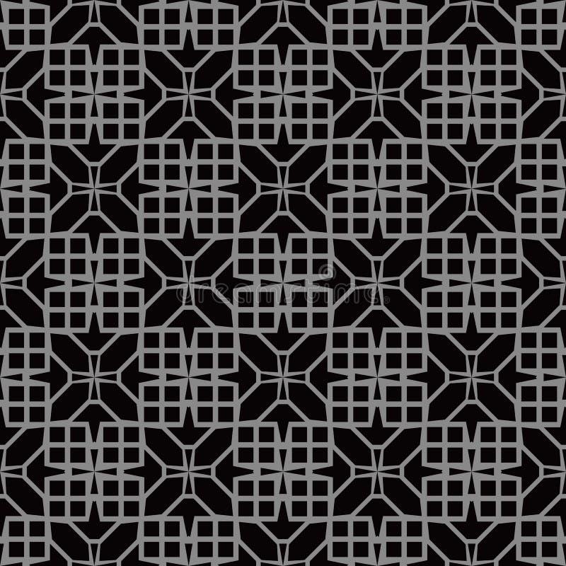 Elegant mörk antik bakgrundsbild av fyrkantkorsgeometri royaltyfri illustrationer