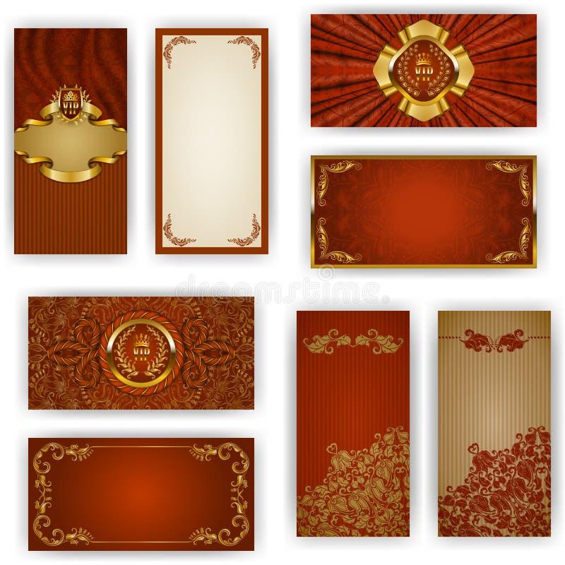 Elegant mall för vip-lyxinbjudan royaltyfri illustrationer