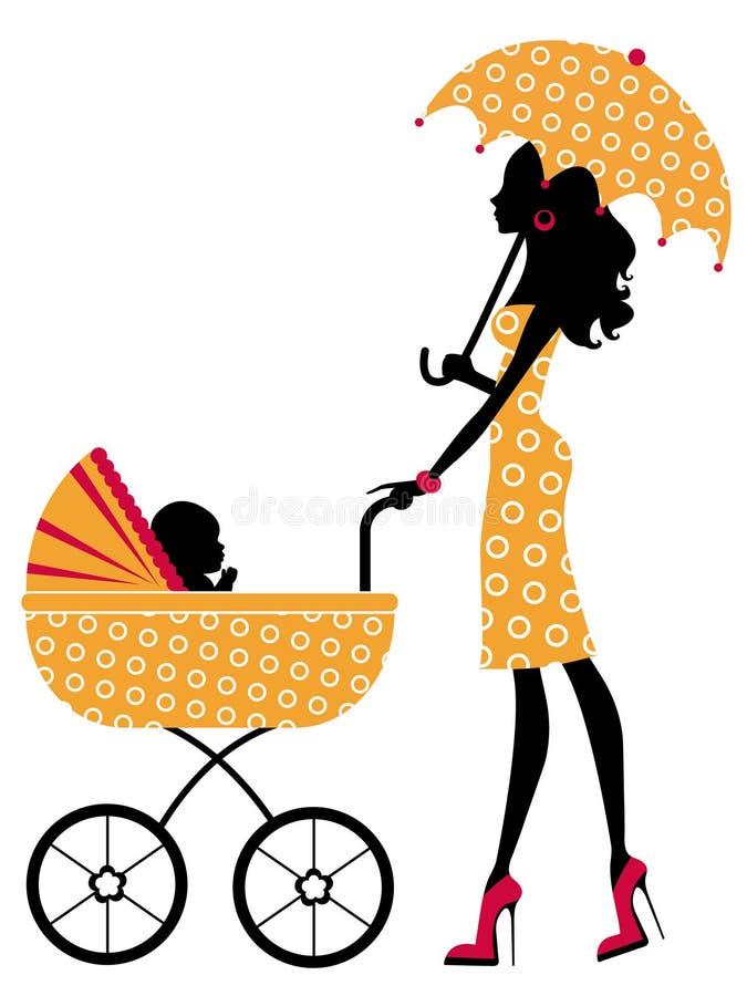 Elegant mamma stock illustratie