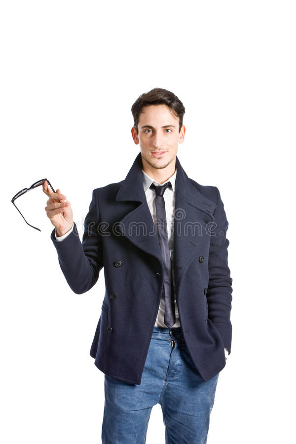 elegant man fotografering för bildbyråer
