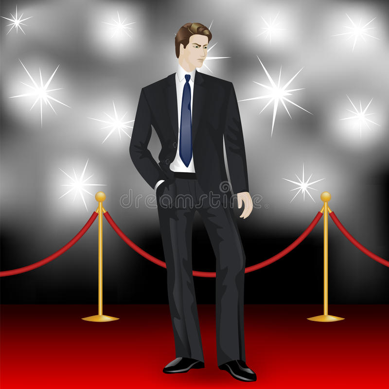 Elegant man stock illustrationer