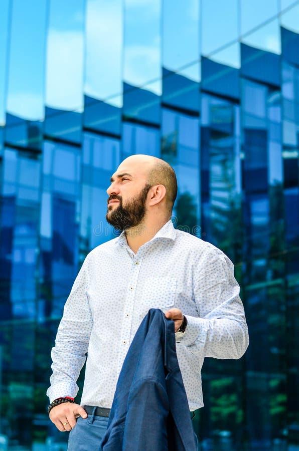 Elegant man outdoor royalty free stock image