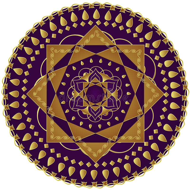 elegant mandala vektor illustrationer