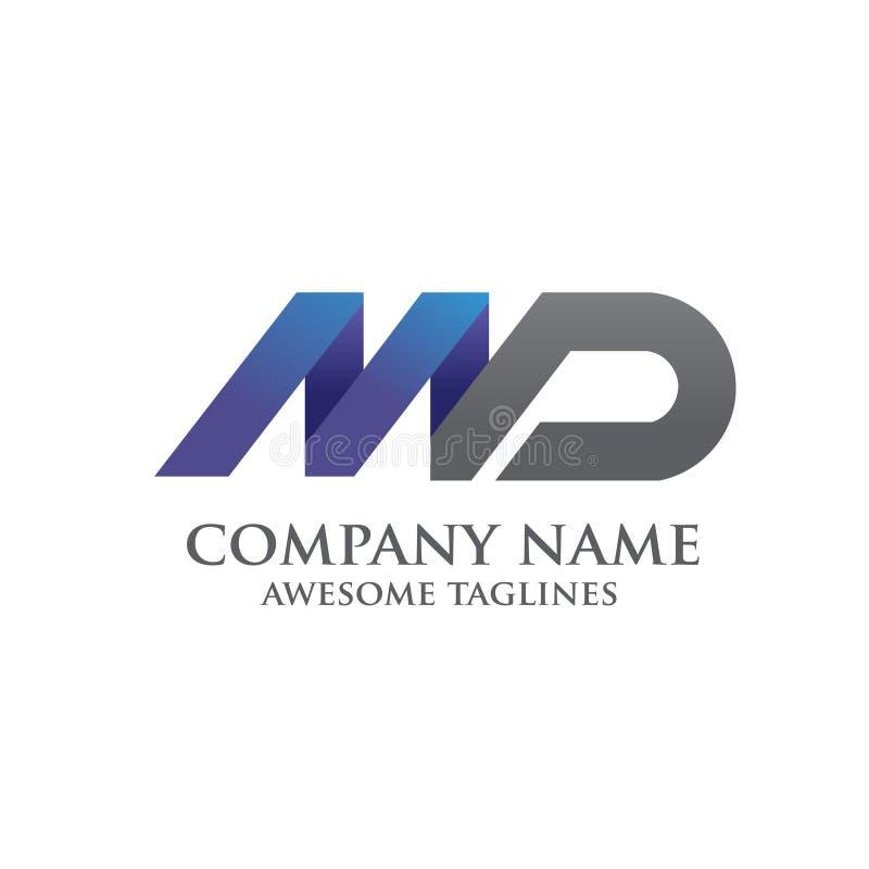 Elegant MD letter logo vector illustration