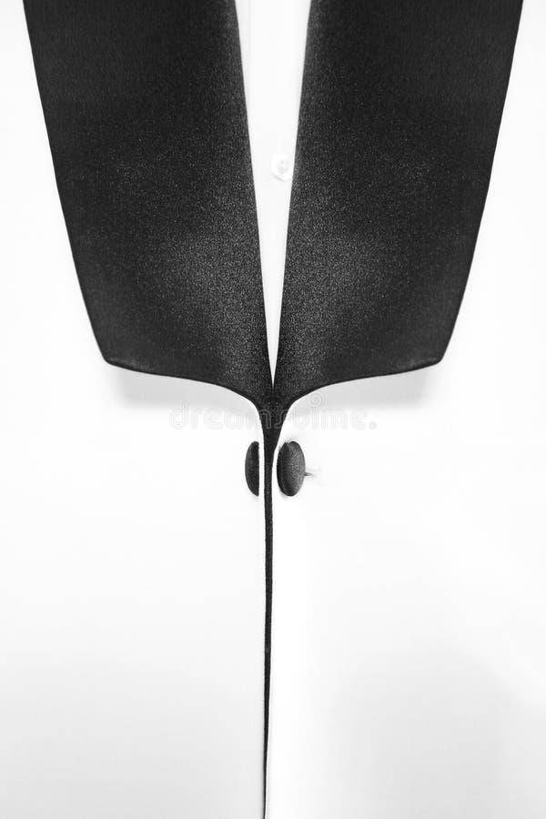 Elegant men`s shirt collar detail royalty free stock photography