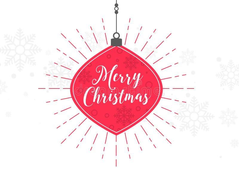 Elegant merry christmas decorative ball ball background stock illustration