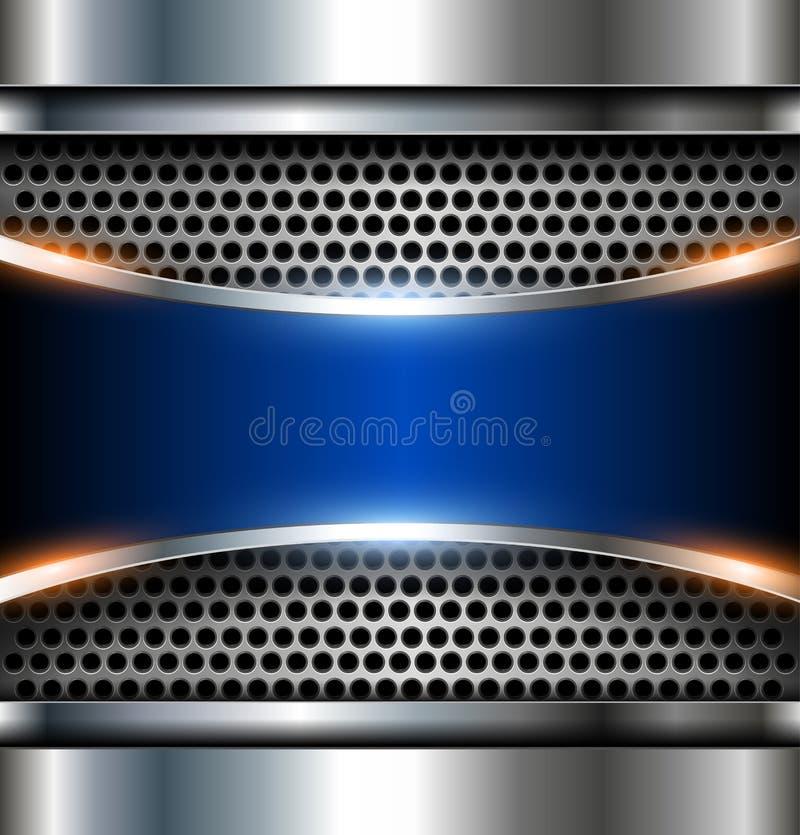 Elegant metallic background stock illustration