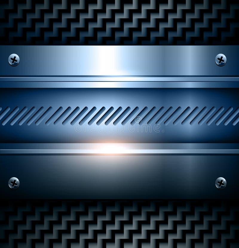 Elegant metallic background vector illustration