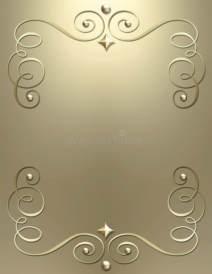 Elegant metallic swirl background stock images