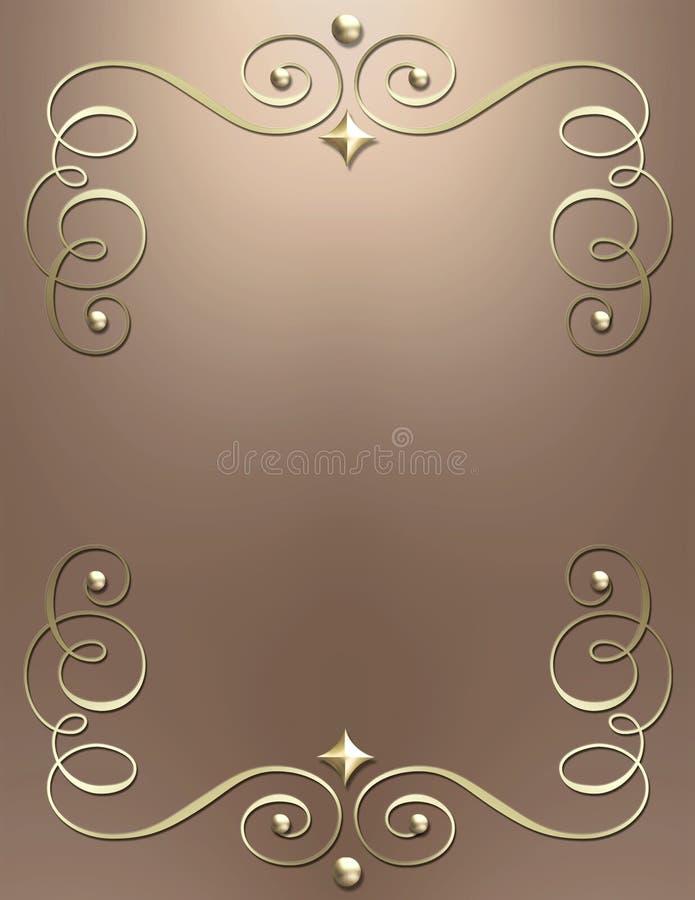 Elegant metallic swirl background stock image