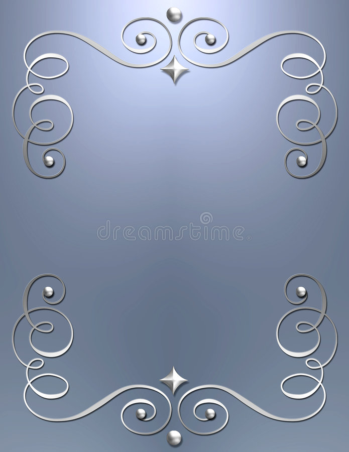 Elegant metallic swirl background stock photography