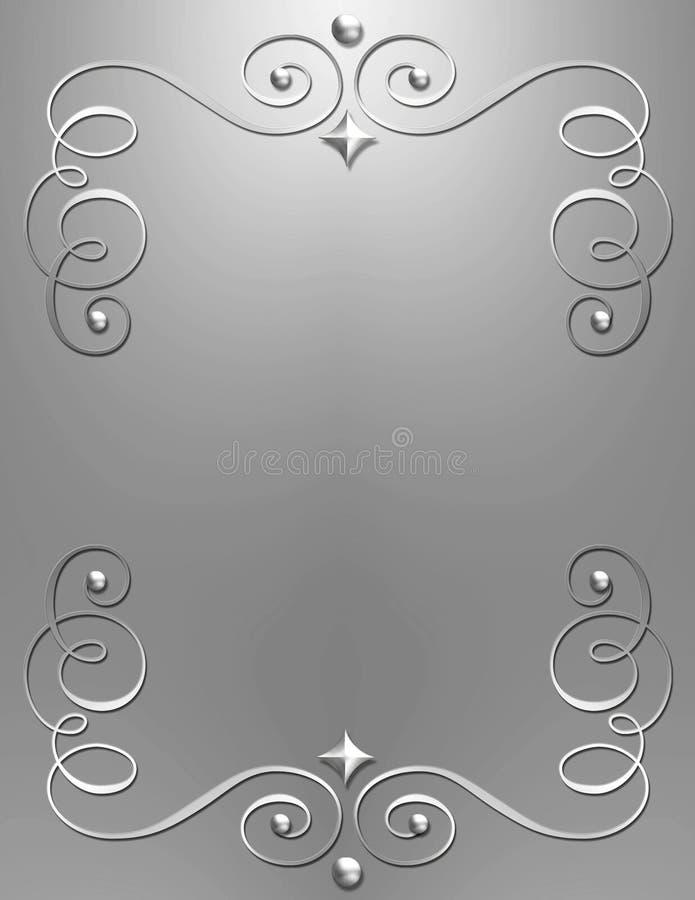 Elegant metallic swirl background royalty free stock photos
