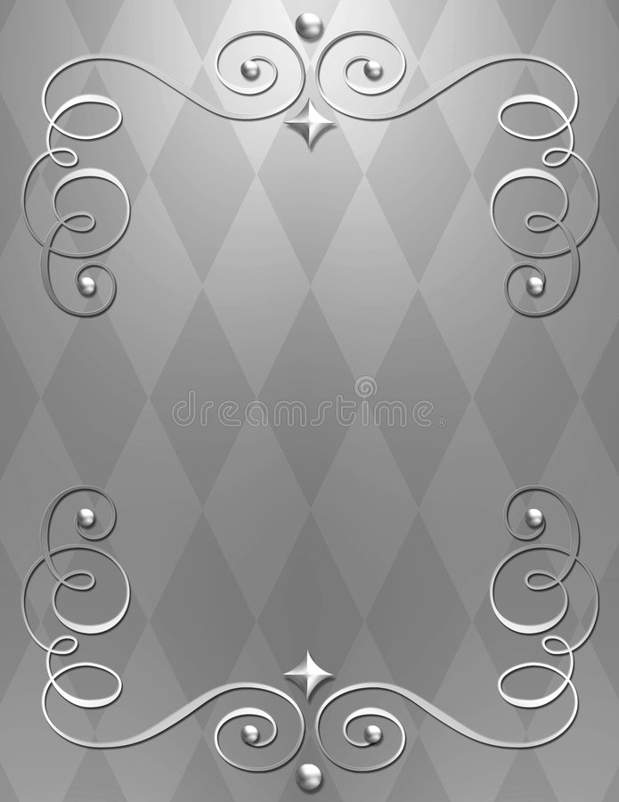 Elegant metallic swirl background stock photo
