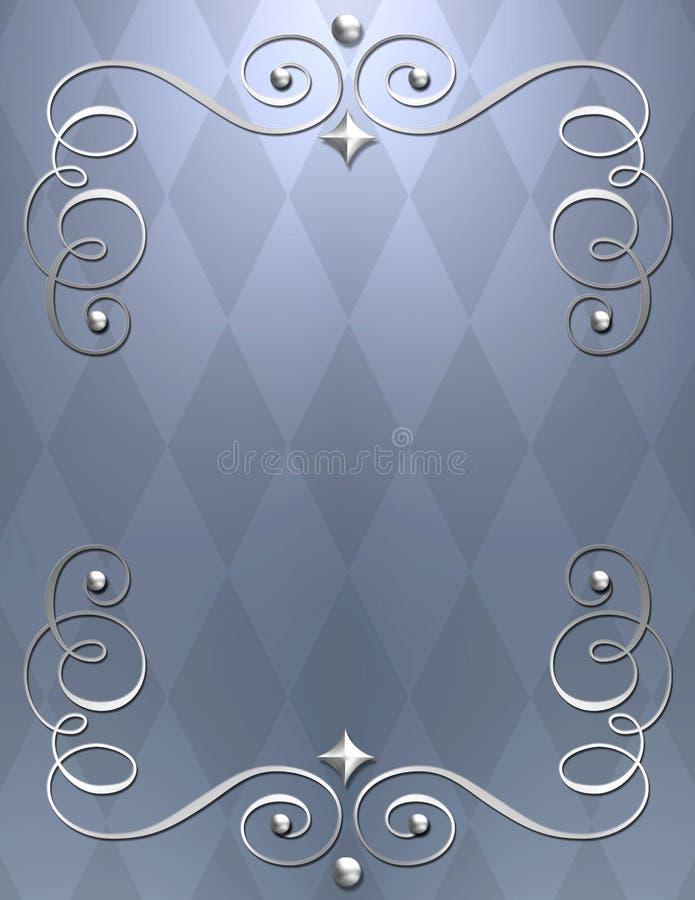 elegant metallic swirl bkgrnd royalty free stock image