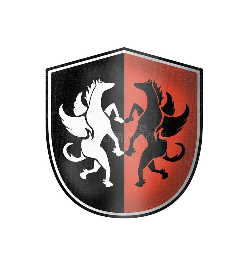 Elegant middeleeuws symbool stock illustratie