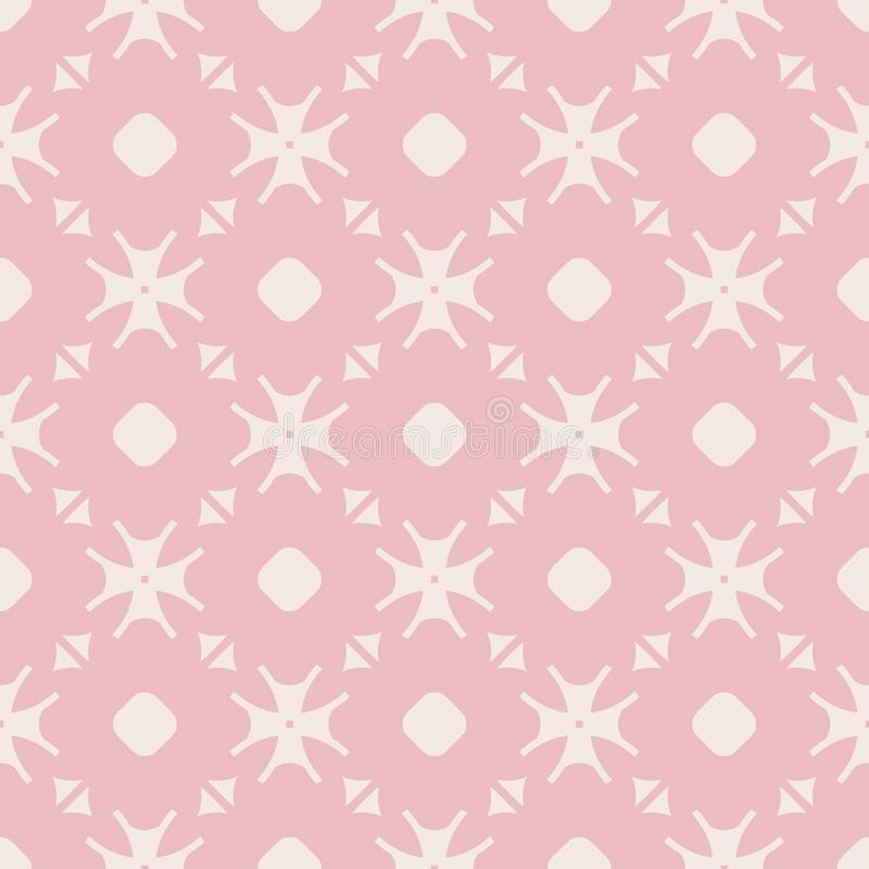 Vector elegant minimalist floral seamless pattern. Cute design for girls, babies. Elegant minimalist floral pattern in pink and beige colors. Subtle abstract royalty free illustration