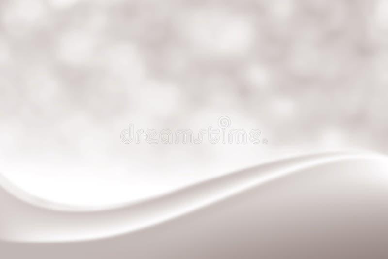 Elegant mjuk skönhetbakgrund för suddig slät silver, lyxig kosmetisk skugga bakgrundBokeh för mjukt ljus, lutningfärgsignal royaltyfri illustrationer
