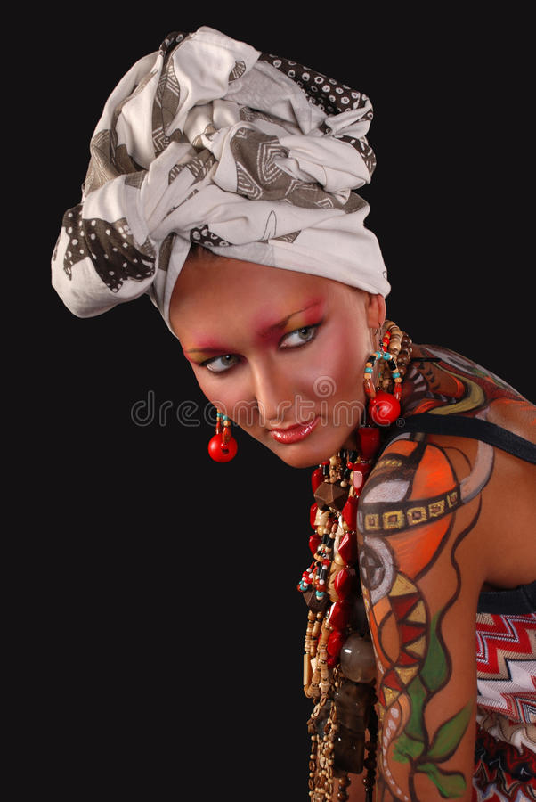 Download Elegant Model With Bright Makeup And Body Art. Stock Photo - Image: 25817676