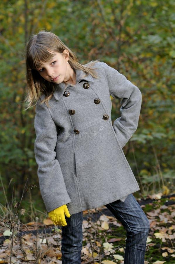 Elegant model in nature royalty free stock image
