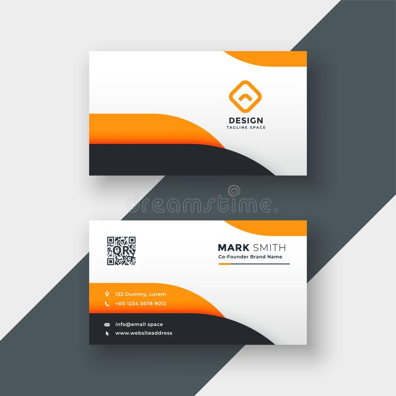 Elegant modern business card design stock illustration