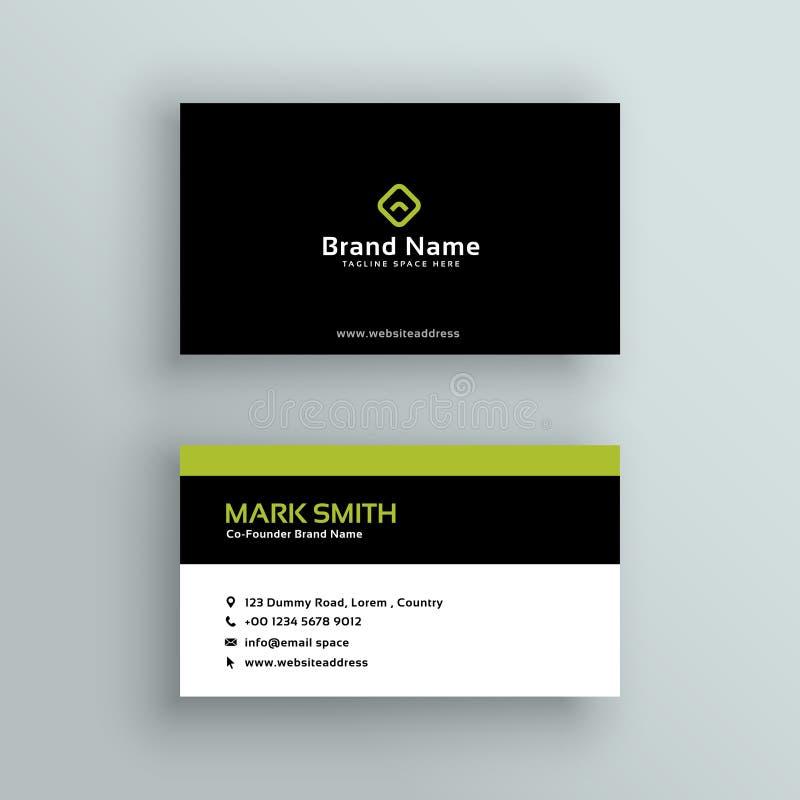 Elegant modern business card vector design royalty free illustration
