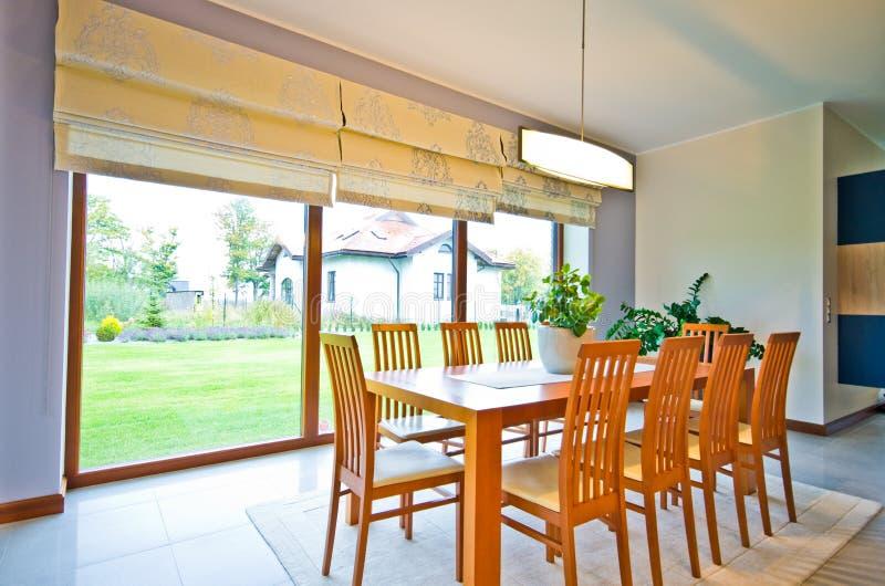 Elegant modern dining room royalty free stock image