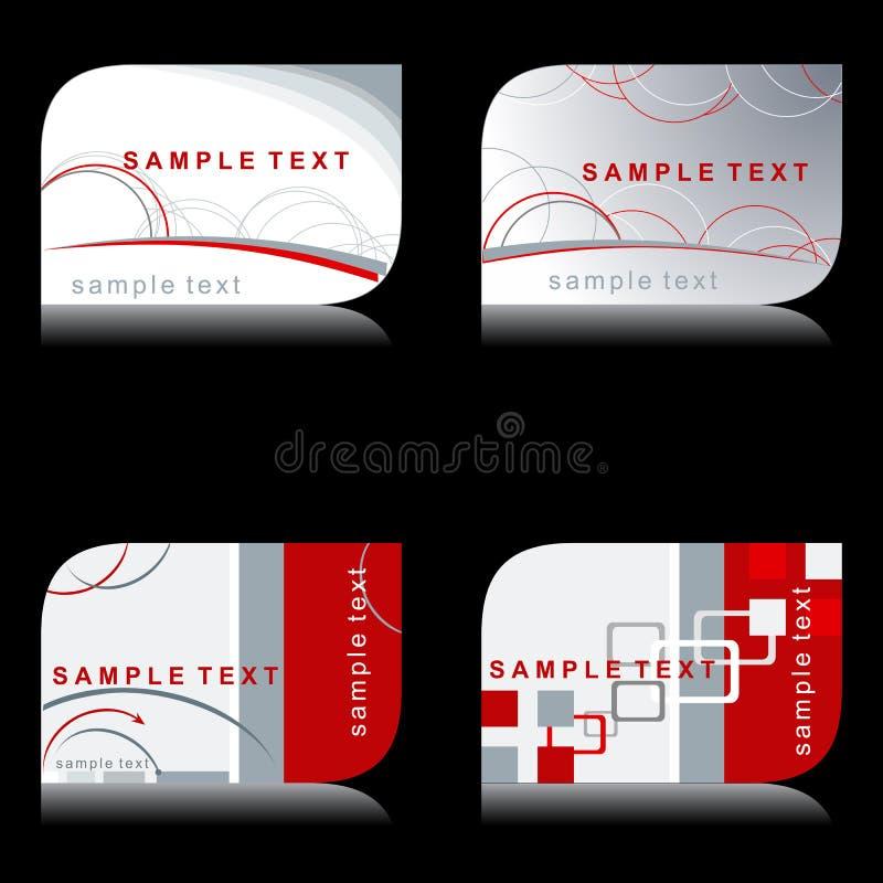 elegant modern set för affärskort stock illustrationer